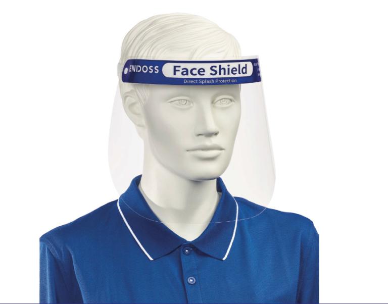 Endoss Face Shield PPE Gesichtsschutzschirm Vorderseite